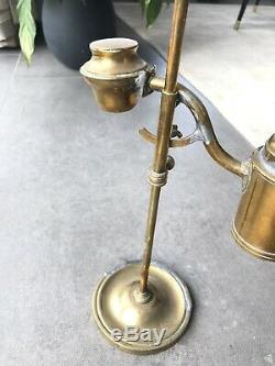 Magnifique Lampe Laiton Horloger Etabli vintage watchmaker brass light petrol
