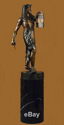 Main Bronze Laiton King Tut Égyptien Sculpture Marbre Art Déco Figurine Art