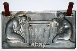 Medaille, Plaque Art Deco, Edite Par La Gerbe D'or Paris, Raoul Lamourdedieu, Femme