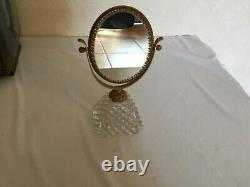# Miroir de toilette cristal et laiton taille diamant Baccarat