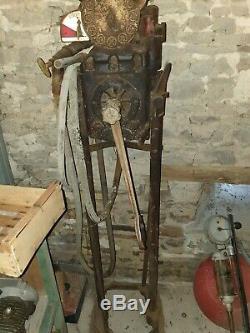 Objet de Métier Industriel Pompe à Essence SATAM CARBOX 1930 Fonte Verre Laiton