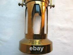 Objet religieux Art Déco, Ancienne lanterne de procession, verre et laiton doré