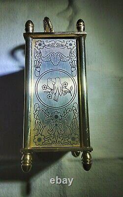 PENDULETTE horloge de table 8 JOURS SUISSE Chilex émaillée fonctionne