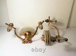 Paire d'applique à deux lumières Art Déco design Leleu moderniste style