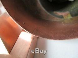 Paire d'appliques ancienne en laiton cuivré art déco