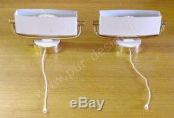 Paire d'appliques de style Art Déco attribuées à J. Biny. Design années 50