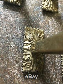 Paire de tringles à rideaux en laiton Art déco