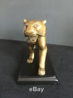 Panthère Art déco en laiton façon bronze