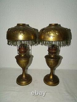 Parisiennes Lampes A Pétrole Anciennes Laiton Old Collection Oil Brass Lamp