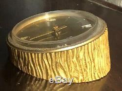 Pendule / horloge de bureau LANCEL vintage en laiton 70'S