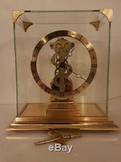 Pendule squelette en laiton HOUR LAVIGNE. Vintage