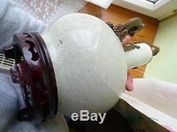 Pied de lampe celadon et monture BRONZE Chineese CHINE japan wiet