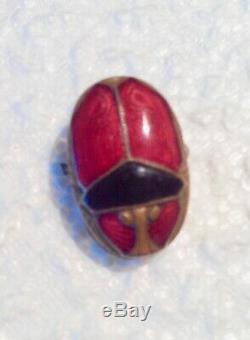 Pince à cravate scarabée émaillé ART NOUVEAU / Art-Déco. Vers 1920