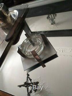 Rare Cendrier Moderniste Boris Lacroix pour Adnet en Laiton chromé 1930