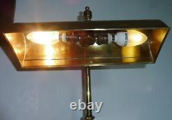 Rare Lampe De Bureau De Notaire Banquier Bronze Laiton Articulee