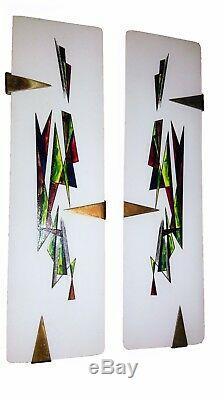 Rare paire dappliques Murales ARLUS 1950s LUMINAIRE FRANÇAIS