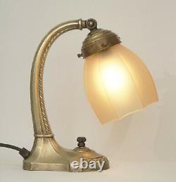 Rarement Original Art Nouveau Type Déco Lampe de Piano Table Chevet Laiton 1910