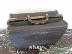 Sacoche valise mallette cuir art nouveau art-déco 1900 1930 belle époque