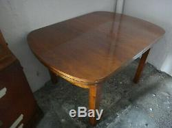 Salle a manger art deco palissandre 1920 poignée laiton 5 chaises