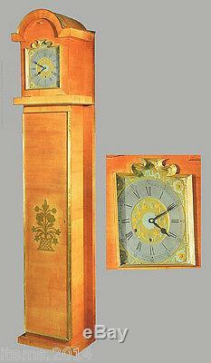 Seret Decorateur, Horloge Comptoise Art Deco, Merisier Laiton Et Bronze, C