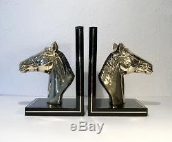 Serre-livres Chevaux Artdéco Design Vintage XXÈME ROMÉO CHARLES JANSEN Bronze