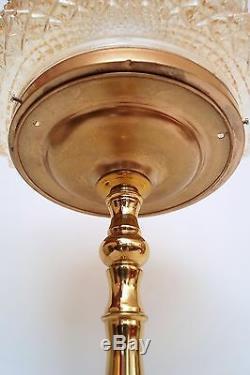 Super Art Nouveau Maison de Campagne Lampe de Bureau Lampe de Table en Laiton