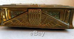 Superbe Boite A Bijoux En Laiton Époque Art Deco 1930 Jawelry Box