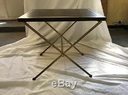 Table Basse Bout De Canapé Ebene Macassar Et Laiton Annees 40