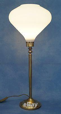 Très Élégant Art Déco Lampe de Bureau Mazda Style en Laiton 70 Cm