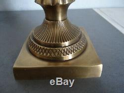 Tres Joli Vase Art Deco Monture Bronze Ou Laiton