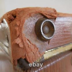 Valise voyage vintage carton cuir laiton art déco Belle époque 1920 1930 France