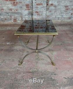 Vintage Maison Jansen Style Métal Café Table WithLaiton Sabot Pieds